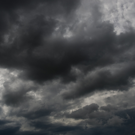 Background of dark clouds before a thunder-storm  Stock Photo - 17414745