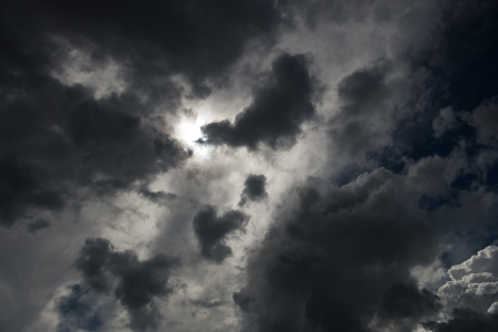 Background of dark clouds before a thunder-storm Stock Photo - 17414937