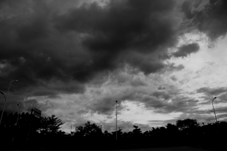 Background of dark clouds before a thunder-storm Stock Photo - 17415197