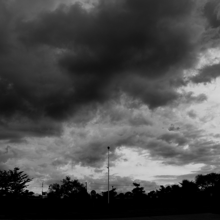 Background of dark clouds before a thunder-storm Stock Photo - 17414854
