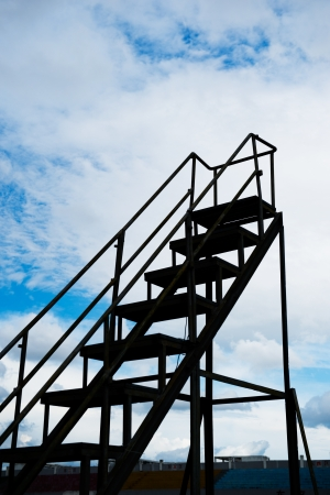 Stairs to the sky  - new opportunities. Stock Photo - 17415209