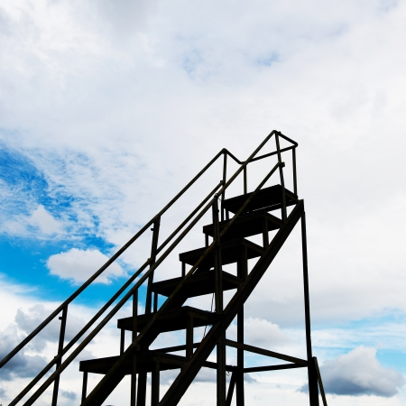 Stairs to the sky  - new opportunities. photo