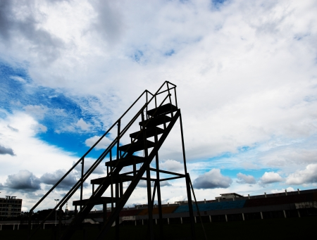 Stairs to the sky  - new opportunities. Stock Photo - 17415113