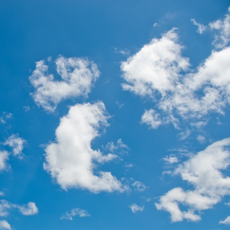 White cloud in the blue sky. Stock Photo - 17414703