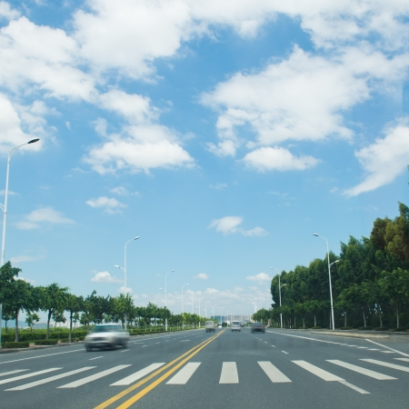 straight road and sky in the city. Stock Photo - 17414742