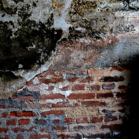 cracked concrete old brick wall background. Stock Photo - 17575408