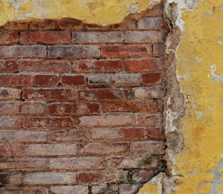 cracked concrete old brick wall background. Stock Photo - 17575401