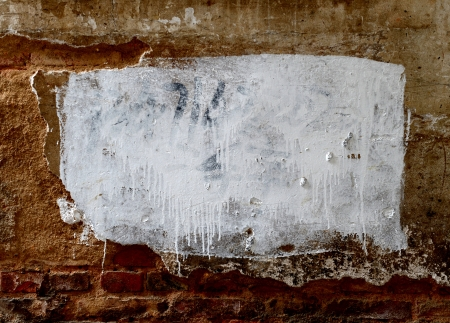 Grunge wall of the old house.  Stock Photo - 17575382
