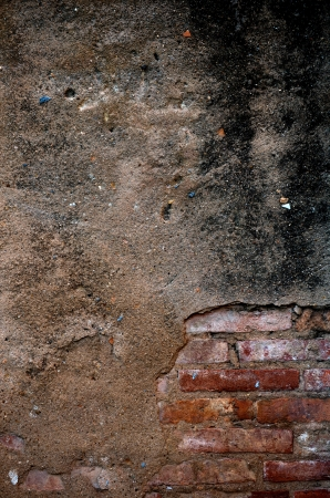 cracked concrete old brick wall background. Stock Photo - 17572584