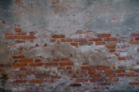 cracked concrete old brick wall background. Stock Photo - 17572565