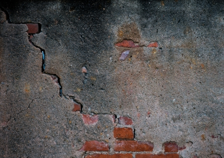cracked concrete old brick wall background. Stock Photo - 17572582