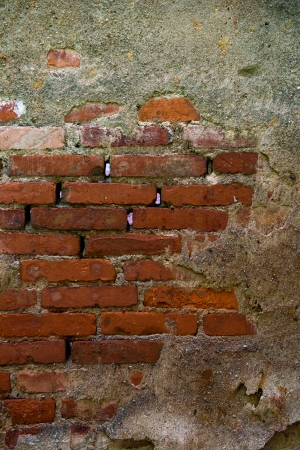 cracked concrete old brick wall background. Stock Photo - 17572586