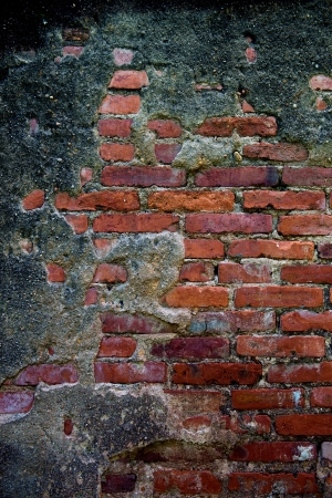 cracked concrete old brick wall background. Stock Photo - 17572593