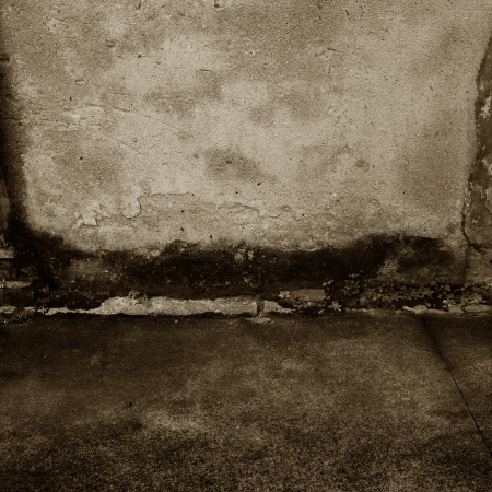 old grunge concrete wall  and floor. Stock Photo - 17572457