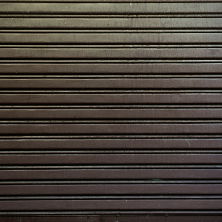 shutter: Texture of metal door surface.