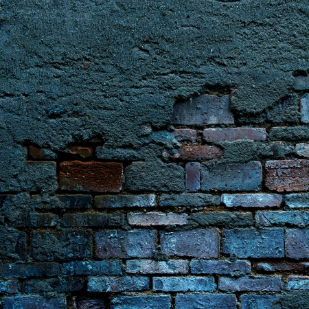 cracked concrete old brick wall background. photo