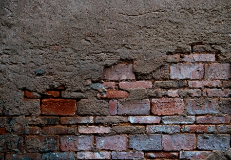 cracked concrete old brick wall background. Stock Photo - 17572588