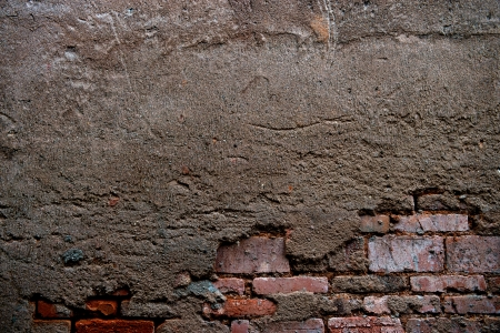 cracked concrete old brick wall background. Stock Photo - 17572597