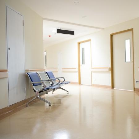 corridoi: Sedie nel corridoio dell'ospedale. ospedale interno Archivio Fotografico