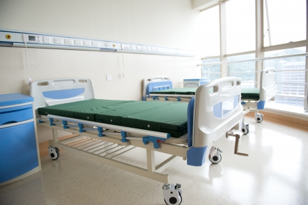 surgery bed: interior of new empty hospital room.
