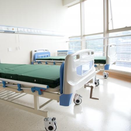 nursing unit: interior of new empty hospital room.