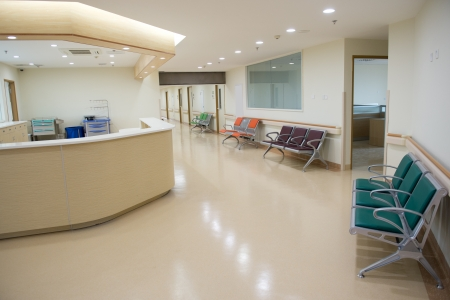 health facilities: Empty nurses station in a hospital.