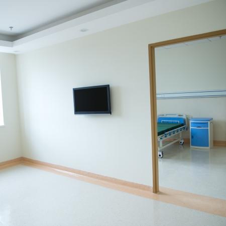 spaciousness: interior of new empty hospital room.