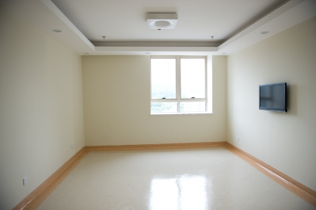 new apartment, empty room with window.