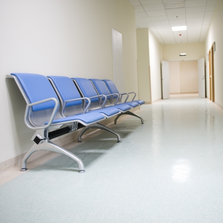 Chairs in the hospital hallway.  hospital interior Stock Photo - 17828192