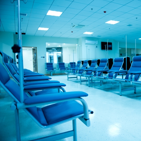 mainline: row of chairs in a infusion room of hospital.