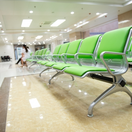 Hospital waiting room with empty chairs.  Stock Photo - 17828185