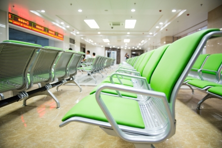 Hospital waiting room with empty chairs.  Stock Photo - 17828553