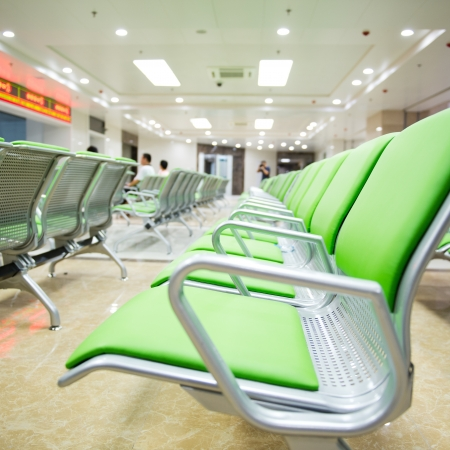 Hospital waiting room with empty chairs.  Stock Photo - 17828215