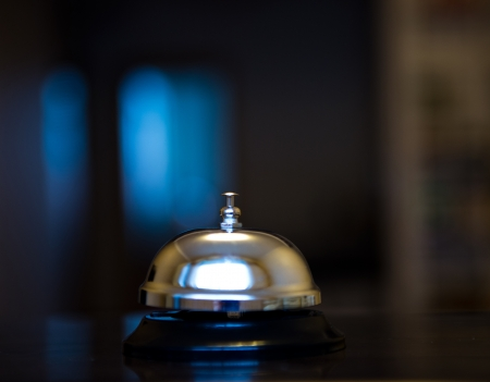 service bell: Service bell at an hotel table.