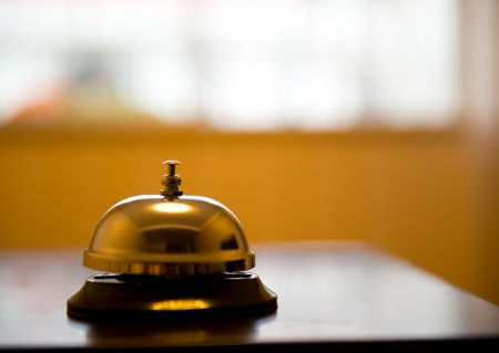 Service bell at an hotel table. Stock Photo - 17828153