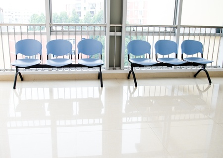 Chairs in the hospital hallway. hospital interior Stock Photo - 17828095