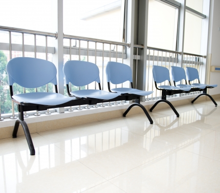 Chairs in the hospital hallway. hospital inter Stock Photo - 17828124