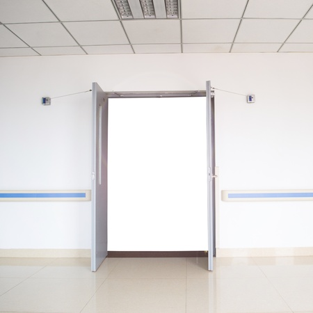 ward: open door in a hospital