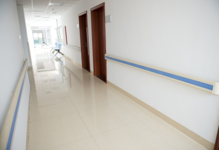 corridor in the hospital. hospital interior photo