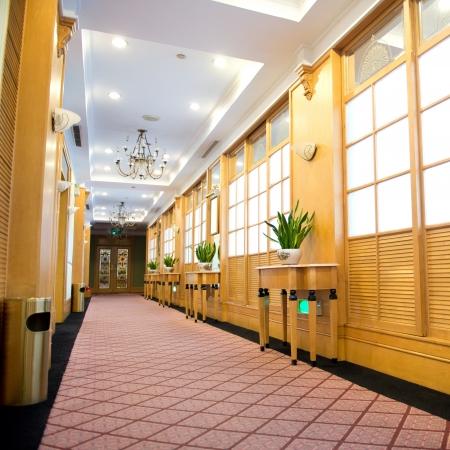 Modern lobby in a hotel