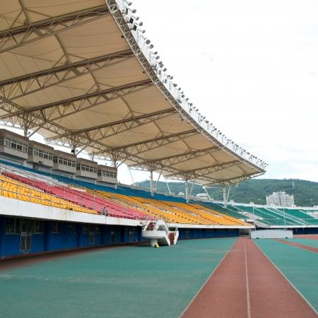 sports venue: part of large sporting stadium.