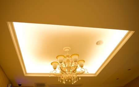 Luxury interior with ceiling lamp. Stock Photo - 17809460