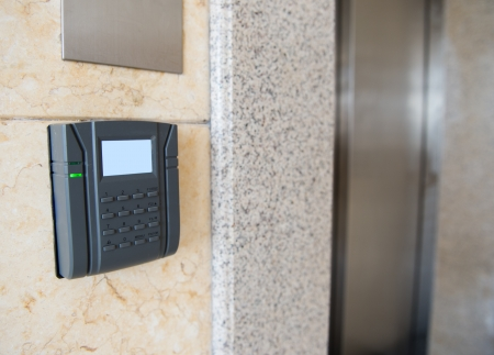 entry numbers: keypad on a security door
