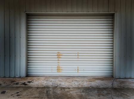 Garage door at a huge building photo