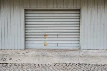Garage door at a huge building photo
