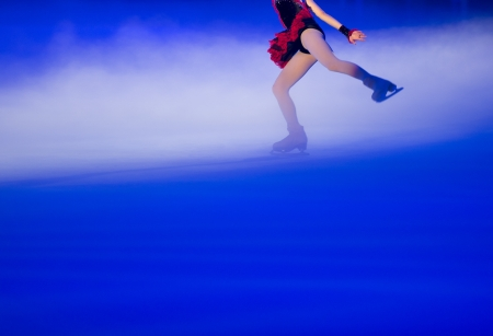People ice figure skating with beautiful light effect. Stock Photo - 18941616