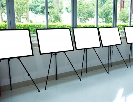 Contemporary interior with blank frames for your exhibition. Stock Photo - 18930607