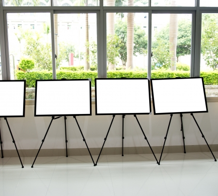 Contemporary inter with blank frames for your exhibition. Stock Photo - 18930360
