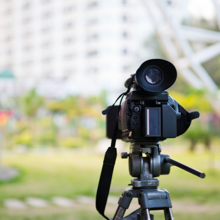 high definition: High definition camcorder in the open air.