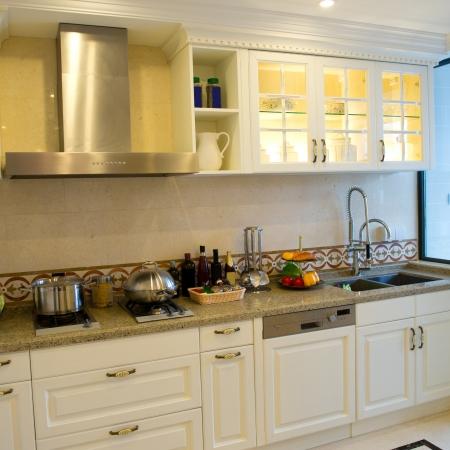 A clean modern kitchen in a modern home